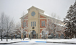 Southwood Presbyterian Church in snow on Christmas Day Dec. 25, 2010.  Bob Gathany Photographer