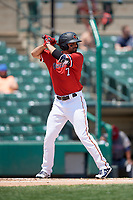 Rochester Red Wings right fielder Ryan LaMarre (7) at bat during a game against the Lehigh Valley IronPigs on July 1, 2018 at Frontier Field in Rochester, New York.  Rochester defeated Lehigh Valley 7-6.  (Mike Janes/Four Seam Images)