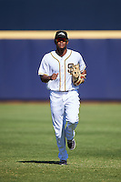 Peoria Javelinas Franchy Cordero (10), of the San Diego Padres organization, during a game against the Mesa Solar Sox on October 19, 2016 at Peoria Stadium in Peoria, Arizona.  Peoria defeated Mesa 2-1.  (Mike Janes/Four Seam Images)