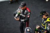#12: Will Power, Team Penske Chevrolet celebrates winning the Big Machine Spiked Coolers Grand Prix, champagne, #51: Romain Grosjean, Dale Coyne Racing with RWR Honda, #26: Colton Herta, Andretti Autosport w/ Curb-Agajanian Honda