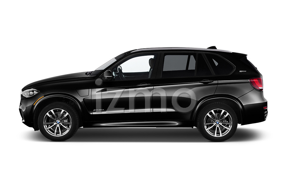 Car driver side profile view of a 2018 BMW X5 xDrive40e 4WD 5 Door SUV