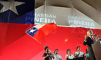 Chile elect president   Sebastian Pinera,  speaks to supporters Santiago de Chile after his victory in the national election.  Pinera, a right wing billionaire, won the runoff against Chile ruling coalition candidate Eduardo Frei.