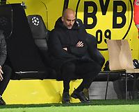 14th April 2021; Induna Park, Dortmund, Germany; UEFA Champions League Football quarter-final, Borussia Dortmund versus Manchester City;  Trainer Pep Guardiola Manchester City as his team look for the winning goal