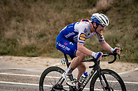 (eventual race winner) Yves Lampaert (BEL/Deceuninck-QuickStep) speeding towards victory<br /> <br /> 44th AG Driedaagse Brugge-De Panne 2020 (1.UWT / BEL)<br /> 1 day race from Brugge to De Panne (203km shortened to 188km due to the windy weather conditions) <br /> <br /> ©kramon