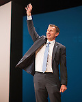 © Joel Goodman - 07973 332324 . 04/10/2016 . Birmingham , UK . JEREMY HUNT speaks on Health during the third day of the Conservative Party Conference at the International Convention Centre in Birmingham . Photo credit : Joel Goodman