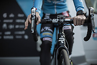 Laura Verdonschot (BEL/Marlux Bingoal) pre race warming up.<br /> <br /> Women's Race<br /> Belgian National Cyclocross Championships 2018 / Koksijde