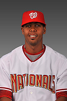 14 March 2008: ..Portrait of Francisco Guzman, Washington Nationals Minor League player at Spring Training Camp 2008..Mandatory Photo Credit: Ed Wolfstein Photo