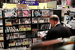 A man looks at Bob Dylan's music on display at Tower Records Shibuya on October 14, 2016, Tokyo, Japan. Bob Dylan (75) won the 2016 Nobel Prize in Literature for ''having created new poetic expressions within the great American song tradition,'' as announced by the Swedish Academy. Dylan is the first singer-songwriter to receive this award. (Photo by Rodrigo Reyes Marin/AFLO)
