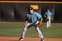 Pat Fortunato #24 of the Rhode Island Rams in the field against the Cal State Northridge Matadors at Matador Field on March 14, 2012 in Northridge,California. Rhode Island defeated Cal State Northridge 10-8.(Larry Goren/Four Seam Images)