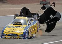 Apr. 7, 2013; Las Vegas, NV, USA: NHRA funny car driver Matt Hagan during the Summitracing.com Nationals at the Strip at Las Vegas Motor Speedway. Mandatory Credit: Mark J. Rebilas-