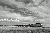 Coal train way out in eastern Colorado rollin' on into Colorado Springs.