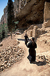 Judean desert, Russian Orthodox Hariton Monastery in Wadi Qelt