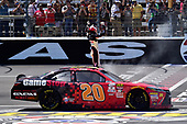 2017 NASCAR Xfinity Series<br /> My Bariatric Solutions 300<br /> Texas Motor Speedway, Fort Worth, TX USA<br /> Saturday 8 April 2017<br /> Erik Jones, Game Stop/ GAEMS Toyota Camry, Celebrates after winning the Xfinty race in Texas<br /> World Copyright: John K Harrelson/LAT Images<br /> ref: Digital Image 17TEX1jh_02859
