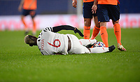 4th November 2020, Basaksehir Fatih Stadium, Istanbul, Turkey; UEFA Champions League football,  Basaksehir versus manchester United;   Paul Pogba of Manchester United goes down with an injury