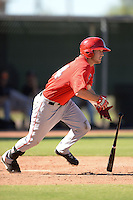 Los Angels Angels of Anaheim outfielder Riley Good (24) during an instructional league game against the Colorado Rockies on September 30, 2013 at Tempe Diablo Stadium Complex in Tempe, Arizona.  (Mike Janes/Four Seam Images)