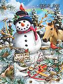 Lori, CHRISTMAS SANTA, SNOWMAN, WEIHNACHTSMÄNNER, SCHNEEMÄNNER, PAPÁ NOEL, MUÑECOS DE NIEVE, paintings+++++Winter Snowman Puzzle_7_10in_72_Sunsout_Lori Schory,USLS340,#x#