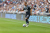 SAINT PAUL, MN - JULY 3: Chase Gasper #77 of Minnesota United FC during a game between San Jose Earthquakes and Minnesota United FC at Allianz Field on July 3, 2021 in Saint Paul, Minnesota.