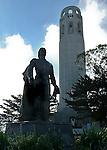 Columbus statue at Coit Tower, San Francisco. Bob & Lou's trip to California Nov. 2015. (Bob Gathany Photographer)