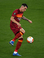 Football: Uefa Europa League - semifinal 2nd leg AS Roma vs Manchester United Olympic Stadium. Rome, Italy, May 6, 2021.<br /> Roma's Roger Ibanez in action during the Europa League football match between Roma and Manchester United at Rome's Olympic stadium, Rome, on May 6, 2021.  <br /> UPDATE IMAGES PRESS/Isabella Bonotto