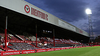 General view of the Braemar Road Stand at Brentford FC  on the last ever match at Griffin Park during Brentford vs Swansea City, Sky Bet EFL Championship Play-Off Semi-Final 2nd Leg Football at Griffin Park on 29th July 2020