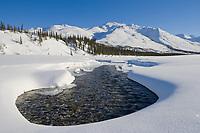 Open water on the Koyukuk River in the foothills of the Brooks Range, Arctic, Alaska