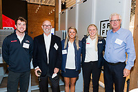 SAN FRANCISCO, CA - October 16 - Riley Gibbs, Peter Stoneberg, Erika Reineke, Anna Weiss and Doug Smith attend Kilroy Realty / US Olympic Sailing Cocktail Reception 2019 on October 16th 2019 at Kilroy Innovation Center in San Francisco, CA (Photo - Andrew Caulfield for Drew Altizer Photography)