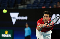 5th February 2021; Melbourne, Australia;   Novak Djokovic, SRB, during 2021 Melbourne Summer Series ATP, Tennis Mens Cup Australian Open pre-tournaments