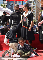 Usher + wife + sons @ Usher Walk of Fame ceremony held @ 6201 Hollywood blvd. September 7, 2016 , Hollywood, USA. # USHER A SON ETOILE SUR LE 'WALK OF FAME'