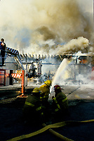 Toronto (on) CANADA - File Photo between 1991 and 1995 -  Montreal firemen at work