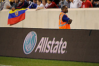 Allstate. The men's national team of the United States (USA) was defeated by Ecuador (ECU) 1-0 during an international friendly at Red Bull Arena in Harrison, NJ, on October 11, 2011.