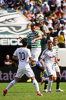 Joe Ledley (16) of Celtic F. C.. Real Madrid defeated Celtic F. C. 2-0 during a 2012 Herbalife World Football Challenge match at Lincoln Financial Field in Philadelphia, PA, on August 11, 2012.
