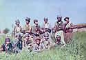 Iraq 1980 .A group of peshmergas in Kadjer  .Irak 1980 .Groupe de peshmergas dans la region de Kadjer