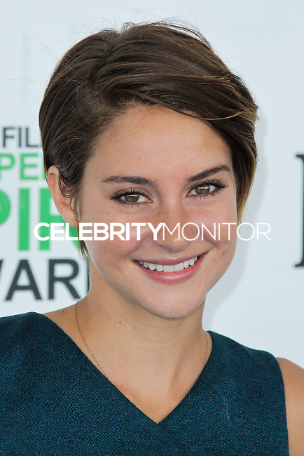 SANTA MONICA, CA, USA - MARCH 01: Shailene Woodley at the 2014 Film Independent Spirit Awards held at Santa Monica Beach on March 1, 2014 in Santa Monica, California, United States. (Photo by Xavier Collin/Celebrity Monitor)