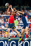 France play Spain in the Shield Semi-Final on Day 3 of the Cathay Pacific / HSBC Hong Kong Sevens 2013 on 24 March 2013 at Hong Kong Stadium, Hong Kong. Photo by Manuel Queimadelos / The Power of Sport Images