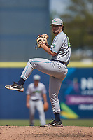 Lynchburg Hillcats relief pitcher Zach Hart (10) in action against the Kannapolis Cannon Ballers at Atrium Health Ballpark on August 29, 2021 in Kannapolis, North Carolina. (Brian Westerholt/Four Seam Images)
