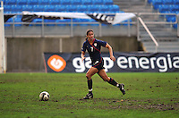 Shannon Boxx crosses the midfield. The USA captured the 2010 Algarve Cup title by defeating Germany 3-2, at Estadio Algarve on March 3, 2010.