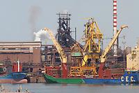 - industrial harbour and Lucchini Group steel mill in Piombino....- porto industriale e acciaieria del Gruppo Lucchini a Piombino