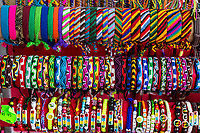 Willemstad, Curacao, Lesser Antilles.  Souvenir Bracelets, Central Market.