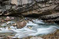 Downstream from the Lower Falls, Johnston Canyon, Banff National Park, Alberta, Canada