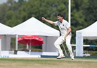 Tim Murtagh appeals for Middlesex CCC during Middlesex CCC vs Hampshire CCC, Bob Willis Trophy Cricket at Radlett Cricket Club on 11th August 2020