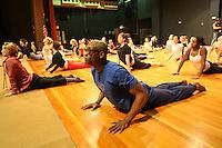 Bill T. Jones teaches dance class in Charlottesville, VA
