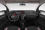 Stock photo of straight dashboard view of a 2018 Citroen C1 Feel 5 Door Hatchback