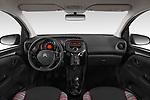 Stock photo of straight dashboard view of a 2018 Citroen C1 Feel 5 Door Hatchback