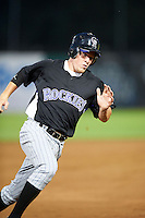 Hunter Hope #15 of William T Dwyer High School in Jupiter, Florida playing for the Colorado Rockies scout team during the East Coast Pro Showcase at Alliance Bank Stadium on August 2, 2012 in Syracuse, New York.  (Mike Janes/Four Seam Images)
