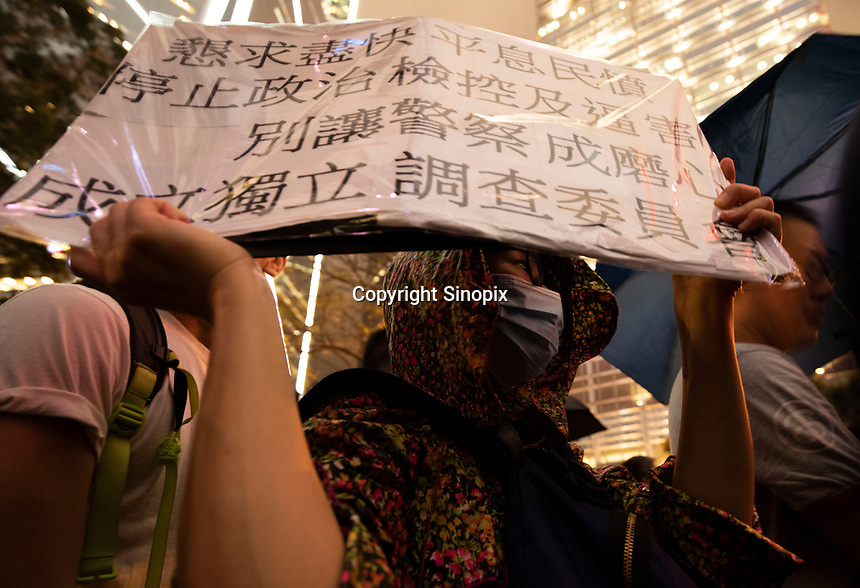 A civil servant named Tang protests the Hong Kong government's refusal to fully withdraw its controversial extradition bill, Hong Kong, China, 02 August 2019.