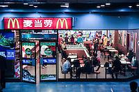 CHINA, Province Shaanxi, city Xian, Mac Donalds Fastfood restaurant
