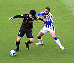 17.10.2020, OLympiastadion, Berlin, GER, DFL, 1.FBL, Hertha BSC VS. VfB Stuttgart, <br /> DFL  regulations prohibit any use of photographs as image sequences and/or quasi-video<br /> im Bild Carneiro da Cunha (Hertha BSC Berlin #10), Wataru Endo (VfB Stuttgart #3)<br /> <br />       <br /> Foto © nordphoto / Engler