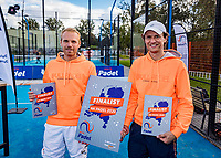 Netherlands, September 6,  2020, Amsterdam, Padel Dam, NK Padel, National Padel Championships, Men's doubles final:  Runners up, Berend Boers (NED) and Peter Bruijsten (NED)<br /> Photo: Henk Koster/tennisimages.com