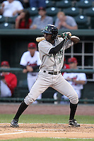 Dayton Dragons shortstop Didi Gregorius (18) during a game vs. the Great Lakes Loons at Dow Diamond in Midland, Michigan August 19, 2010.   Great Lakes defeated Dayton 1-0.  Photo By Mike Janes/Four Seam Images