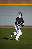 Jeremy Thompson (11) of Samuel Champion High School  in Boerne, Texas during the Baseball Factory All-America Pre-Season Tournament, powered by Under Armour, on January 13, 2018 at Sloan Park Complex in Mesa, Arizona.  (Mike Janes/Four Seam Images)